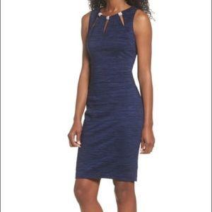 Eliza J Embellished  Sheath Dress Royal Blue